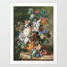 Bouquet of Flowers - Jan van Huysum Art Print