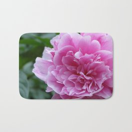 Peony with blooming prosperity Bath Mat