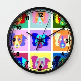 Border Collie Pop Art Wall Clock