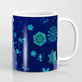 Blue Snowflakes Pattern Coffee Mug
