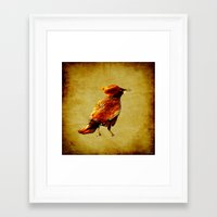 crow Framed Art Prints featuring Crow by Joe Ganech