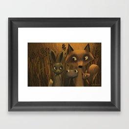 Did You Hear Something? Framed Art Print