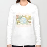 world maps Long Sleeve T-shirts featuring Off The Maps by Grace M
