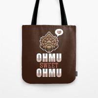 nausicaa Tote Bags featuring Ohmu Sweet Ohmu by adho1982