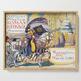 Vintage Women's Suffrage Poster, 1913 Serving Tray
