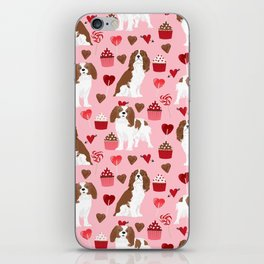 Cavalier King Charles Spaniel valentines day hearts valentine dog breed custom gift for dog lover iPhone Skin