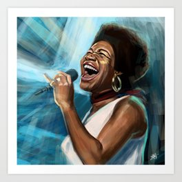 Aretha Franklin Still Sings Art Print
