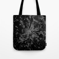 budapest Tote Bags featuring Budapest by Line Line Lines