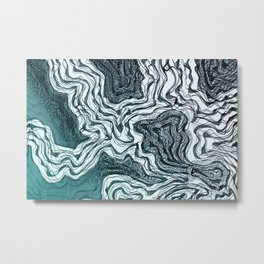 Ink River - Grey Blue edition Metal Print
