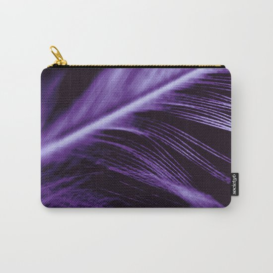 Purple Feather close up Carry-All Pouch
