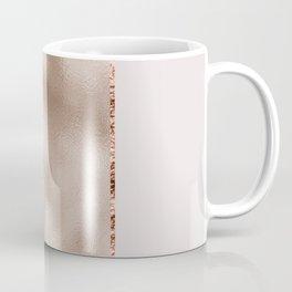Rose metallic striping - marble and blush Coffee Mug