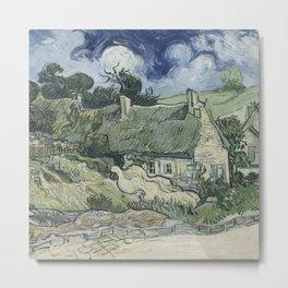 Vincent van Gogh - Thatched Cottages at Cordeville Metal Print