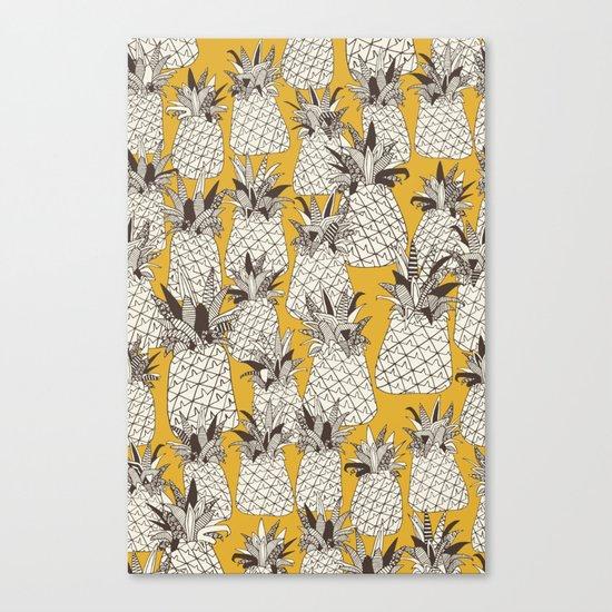 pineapple sunshine yellow Canvas Print