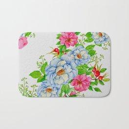 Vintage Floral Pattern No. 7 Bath Mat
