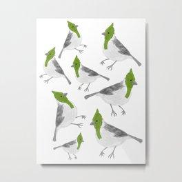 green crested cardinal Metal Print