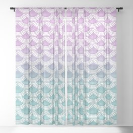 Pastel Mermaid Scales #1 #pastel #decor #art #society6 Sheer Curtain