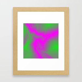 Blurry outlines of lightning with a swirling gap. Framed Art Print