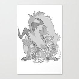 Gut Wretched Goat - Gray Canvas Print