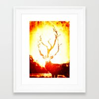stag Framed Art Prints featuring STAG by Chrisb Marquez