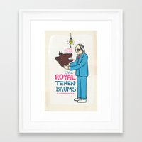 royal tenenbaums Framed Art Prints featuring The Royal Tenenbaums Poster by Heather Lund Illustration