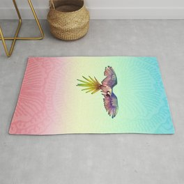 Rainbow Macaw in Flight Rug
