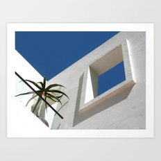 Blue View Art Print