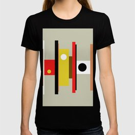 Mid Century Geometric Art Design T-shirt
