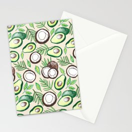 Coconuts & Avocados Stationery Cards