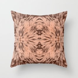 Abstract Copper Mandala 1194 Throw Pillow