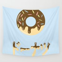 donut Wall Tapestries featuring DONUT. by Dani Does Art
