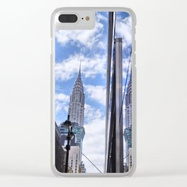 Chrysler Building Reflections in Midtown Clear iPhone Case