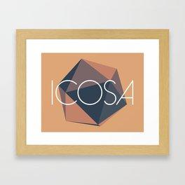Icosa Framed Art Print