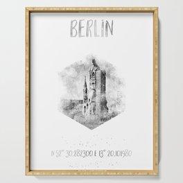 Coordinates BERLIN | monochrome watercolor Serving Tray