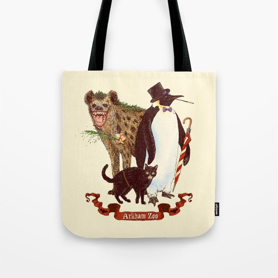 At the Arkham Zoo Tote Bag