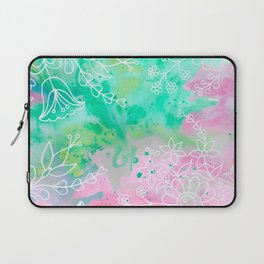 Watercolour abstract floral 3 Laptop Sleeve