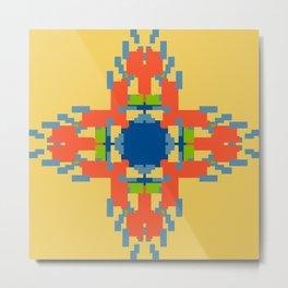 Sunny Geometric Flame Flower Metal Print