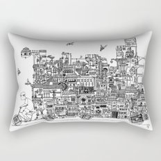 Busy City – On Your Bike Rectangular Pillow
