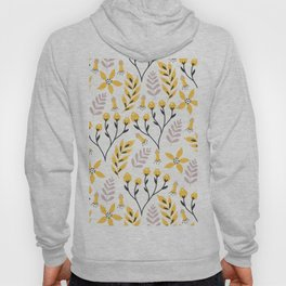Mod Floral Yellow Gray Hoody