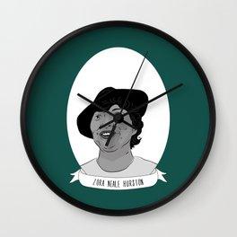 Zora Neale Hurston Illustrated Portrait Wall Clock