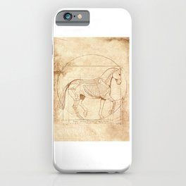 Da Vinci Horse In Piaffe iPhone Case