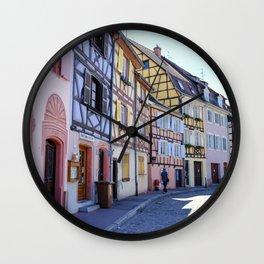 Colmar in Alsace France Wall Clock
