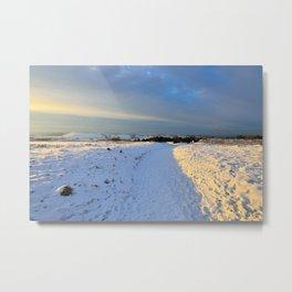 Lancashire Snow Scene Metal Print