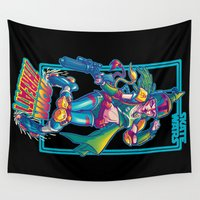 skate Wall Tapestries featuring SKATE WARS: BOBA THREATT by BeastWreck