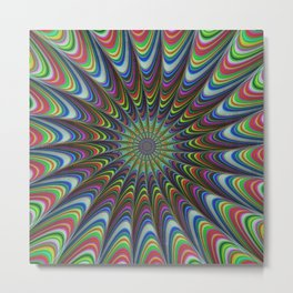 Psychedelic star Metal Print