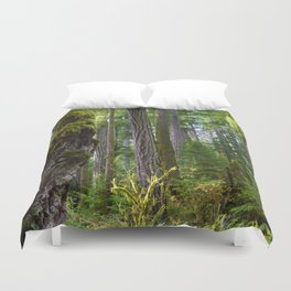Cathedral Grove, Vancouver Island BC Duvet Cover