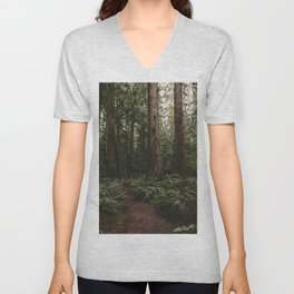 Old growth forest Unisex V-Neck