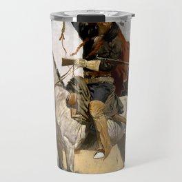 "Frederic Remington Western Art ""The Blanket Signal"" Travel Mug"