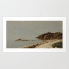 John Frederick Kensett American 1816 - 1872 The Beach at Newport, Rhode Island Art Print
