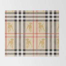 WEIMARANERS AND BEIGE PLAID Throw Blanket