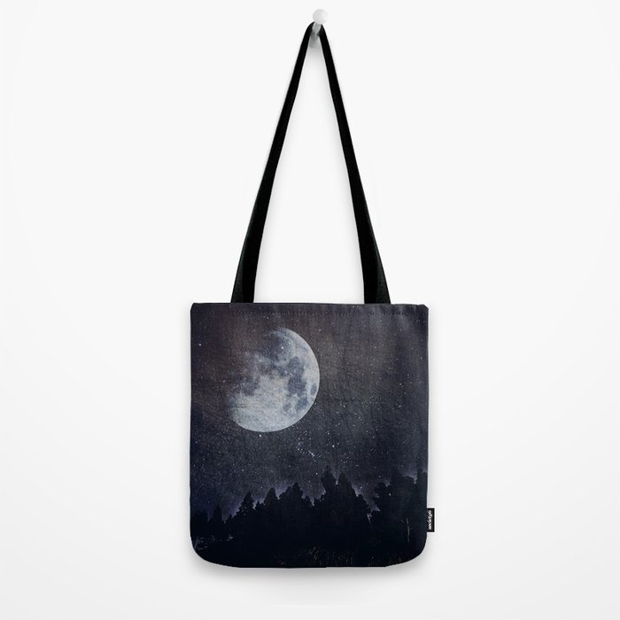 Starry moon  Tote Bag